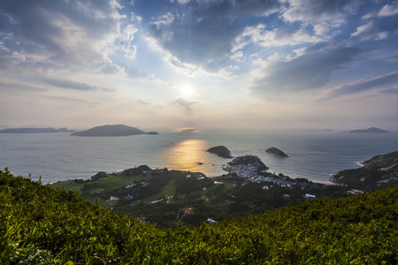Sunrise at Dragon Back, Hong Kong photo