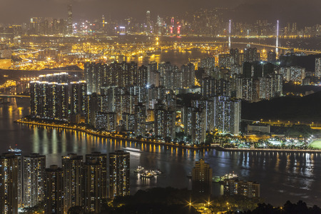rambler: Night view at Rambler Channel, Hong Kong