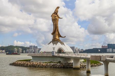 The statue of a Guanyin , Macau Stock Photo