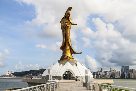 sutras: The statue of a Guanyin , Macau Stock Photo