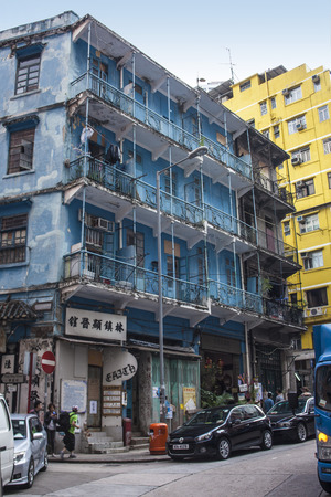 Exterior of Hong Kong old style house