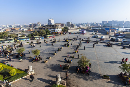 city square: City Square at  Jianshui, China