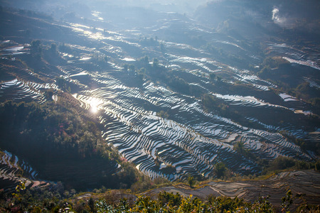 yuanyang: Terraced rice fields in Bada Yuanyang County