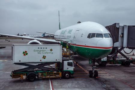 flight crew: The apron at Hong Kong International Airport