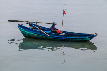 habour: Chinese Fishing boat in Guangdong