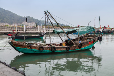 fishing boat: Chinese Fishing boat in Guangdong