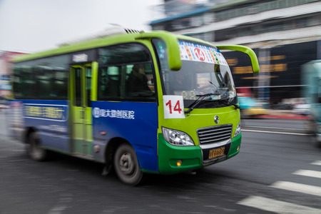 Movement Public bus in China