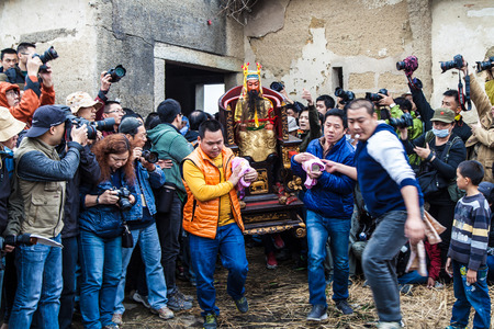 lunar month: Chinese Buddha Statue in lunar month  festival