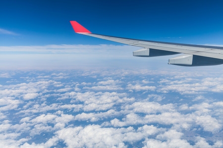 fixed wing aircraft: From aircraft view on the Sky and cloud