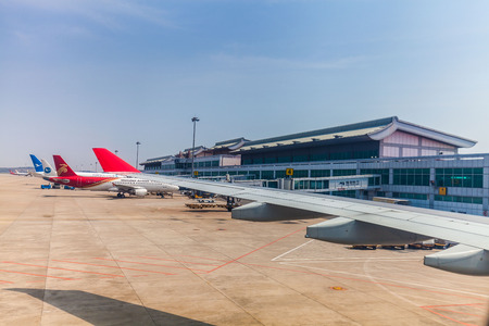 fixed wing aircraft: Aircraft Landing in to Fuzhou Airport