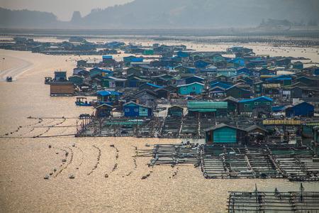 fishing village: Dongan fishing village at Xiapu Stock Photo