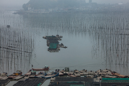 fishing village: fishing village at Xiapu