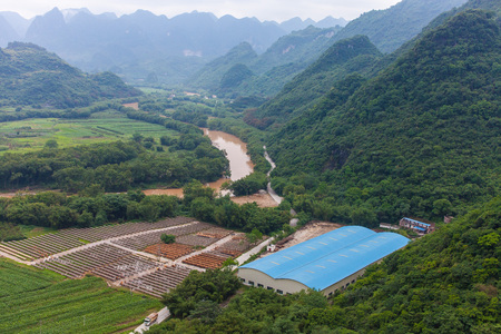 terracing: Southern China village