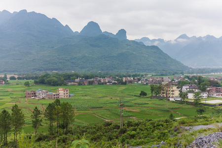 terracing: Southern China village