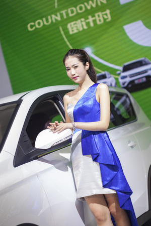 2017 Donnguan Spring International Auto Exhibition Show Girl