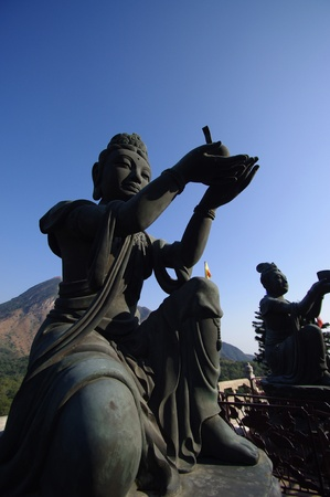 lantau: buddha on lantau island in hong kong