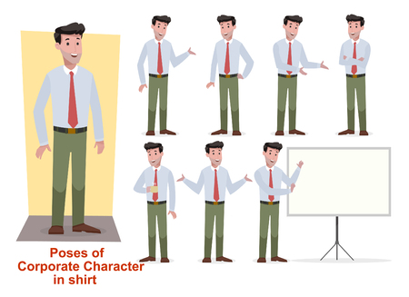 set of corporate man in shirt