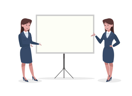 business woman in office vector design illustration