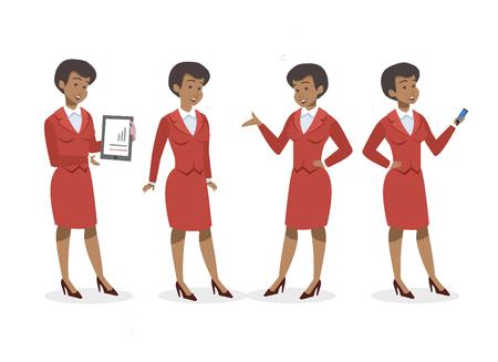 set of businesswoman vector design african american