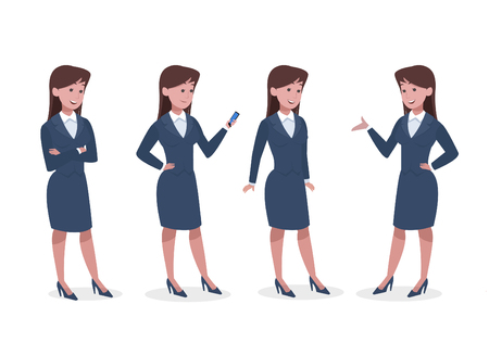 business woman in office Illustration