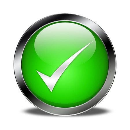 check mark button isolated Stock Photo