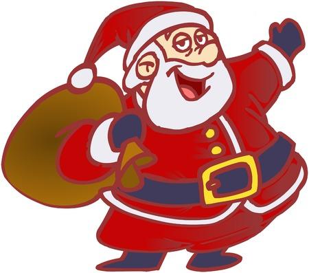 Welcome Santa Claus! Stock Vector - 2807153