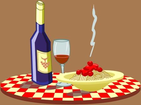 slow food: noi apprezziamo cucina italiana  Vettoriali