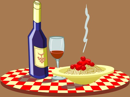 plato pasta: siempre apreciamos la comida italiana