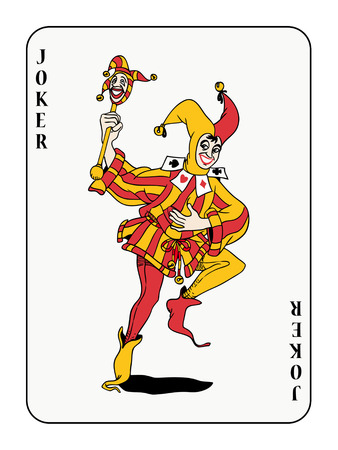 joker playing card Illustration