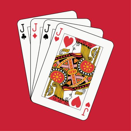 non: jacks poker non red background Illustration