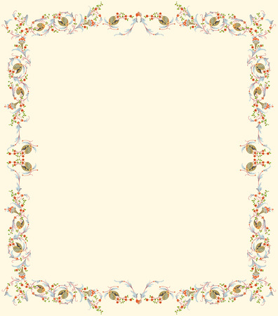 floral frame ready for text Stock Vector - 3882052