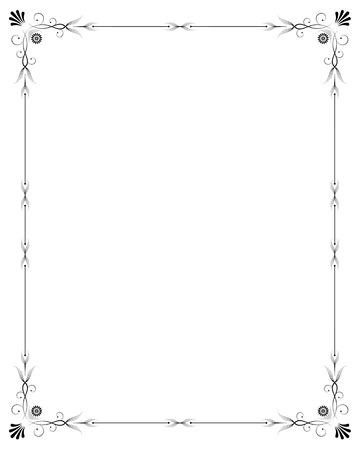 corner decoration: Elegant frame Illustration