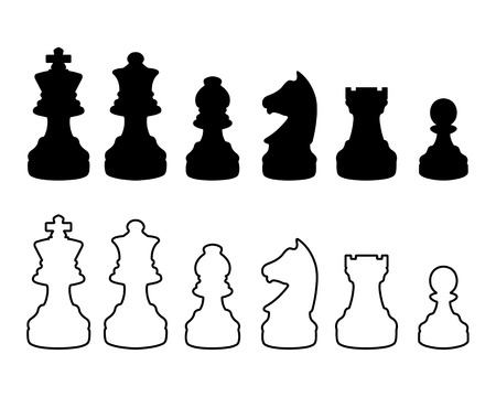 Chessmmmen silhouettes Stock Vector - 4232862