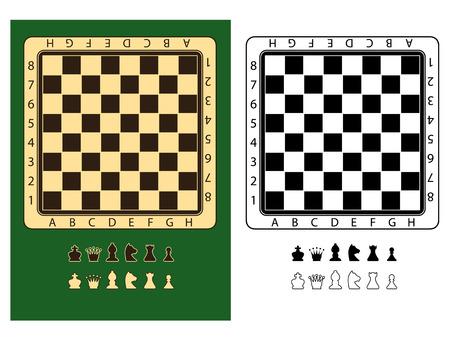 chessmen: Chessboards and chessmen symbols Illustration