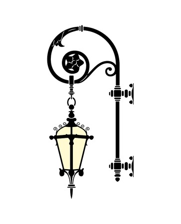 italian forged iron elegant street lamp