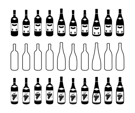 labelling: Ten different bottles contour and two different labelling