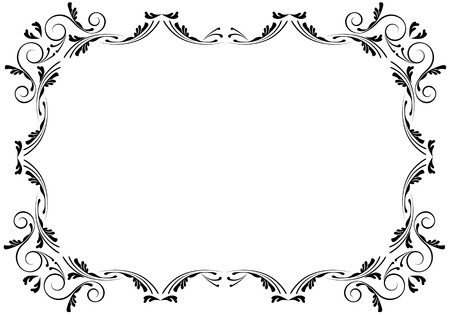 swirly design: corners and borders page decorations, very easy to edit and to rearrange