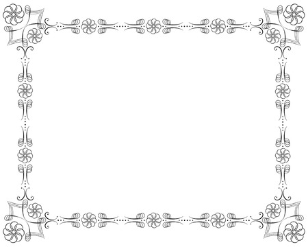 corners and borders page decorations, very easy to edit and to rearrange Vector