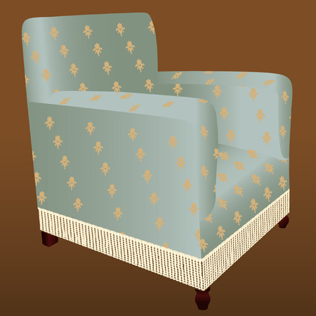fringed armchair Vector