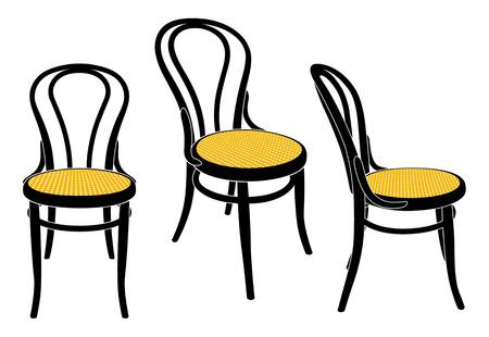 vienna cafe chair Vector