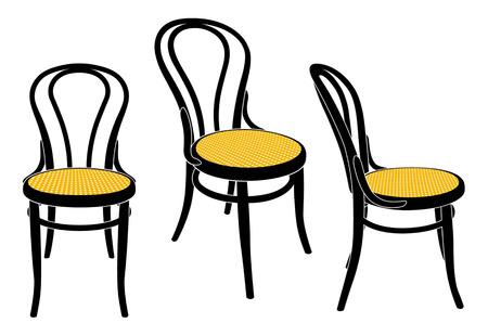 vienna cafe chair Illustration