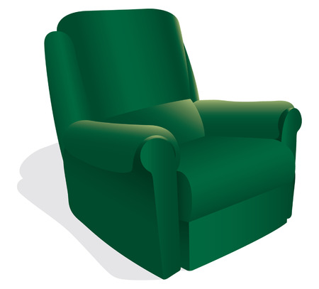 green armchair Vector