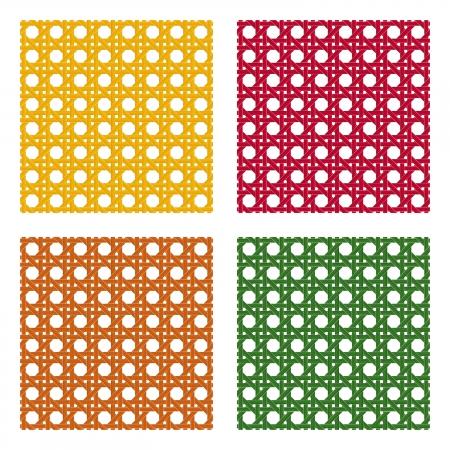 seamless wicker pattern Vector