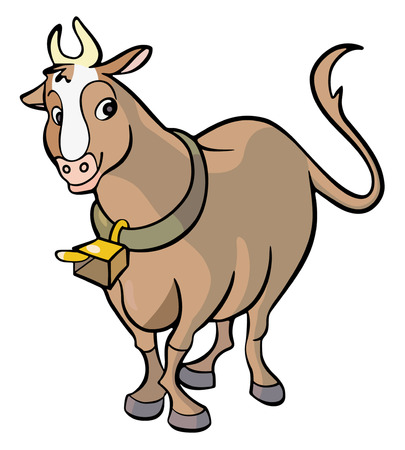 Cow cartoon Stock Vector - 4803601