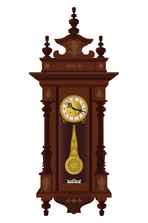 Pendulum wall clock Vector