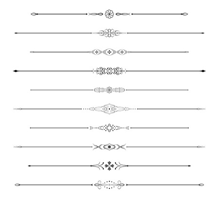 Page rules set Stock Vector - 5029325
