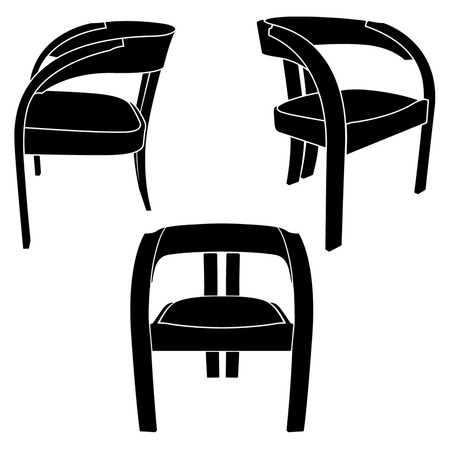 the same chair in three different sights Stock Vector - 5029319
