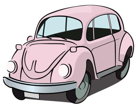 volkswagen: Pink beetle car