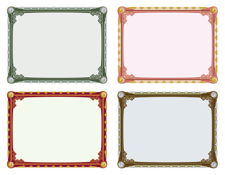 Vintage elegant frame in four different colours Stock Vector - 5117291
