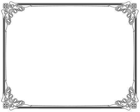 page border: Corners and borders page decoration